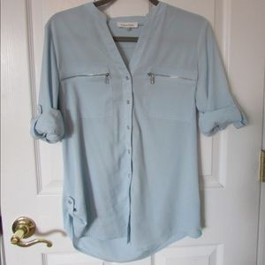 Calvin Klein light blue blouse